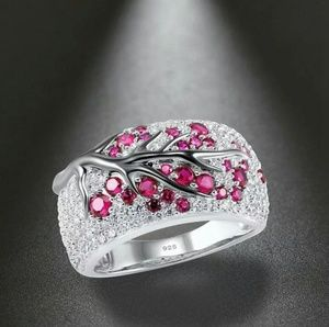 Jewelry - 925 Silver Plated branch diamond Rings For Women's